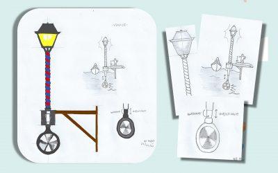 RWA Venice Streetlamp – Water Turbine Powered Streetlamp for Venice
